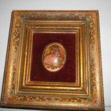 Antigüedades: CUADRO CON PORCELANA LIMOGE. Lote 40783601
