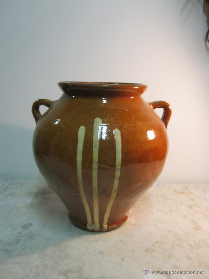 ORZA DE BARRO VIDRIADO DE LA BISBAL (Antigüedades - Porcelanas y Cerámicas - La Bisbal)