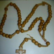 Antigüedades: ROSARIO - CUENTAS DE MADERA . Lote 40794245