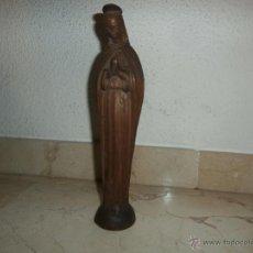 Antigüedades: TALLA MADERA DE LA VIRGEN, MIDE UNOS 27 CM, 111-1. Lote 40795987