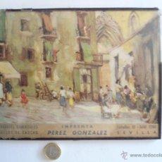 Antigüedades: ANTIGUO CARTEL PUBLICITARIO CON CRISTAL DE IMPRENTA EN SEVILLA. Lote 40806854