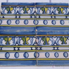 Antigüedades: LOTE DE 4 AZULEJOS DE TALAVERA.AZULEJO.. Lote 40807805