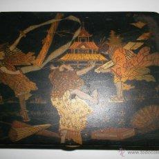 Antigüedades: CAJA DE MADERA LACADA. Lote 40808589