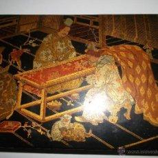 Antigüedades: COFRE DE MADERA LACADA. Lote 40808619