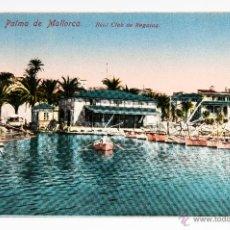 Antigüedades: POSTAL DE PALMA DE MALLORCA, REAL CLUB DE REGATAS, FOTOGRAFIA COLOREADA. Lote 40810301