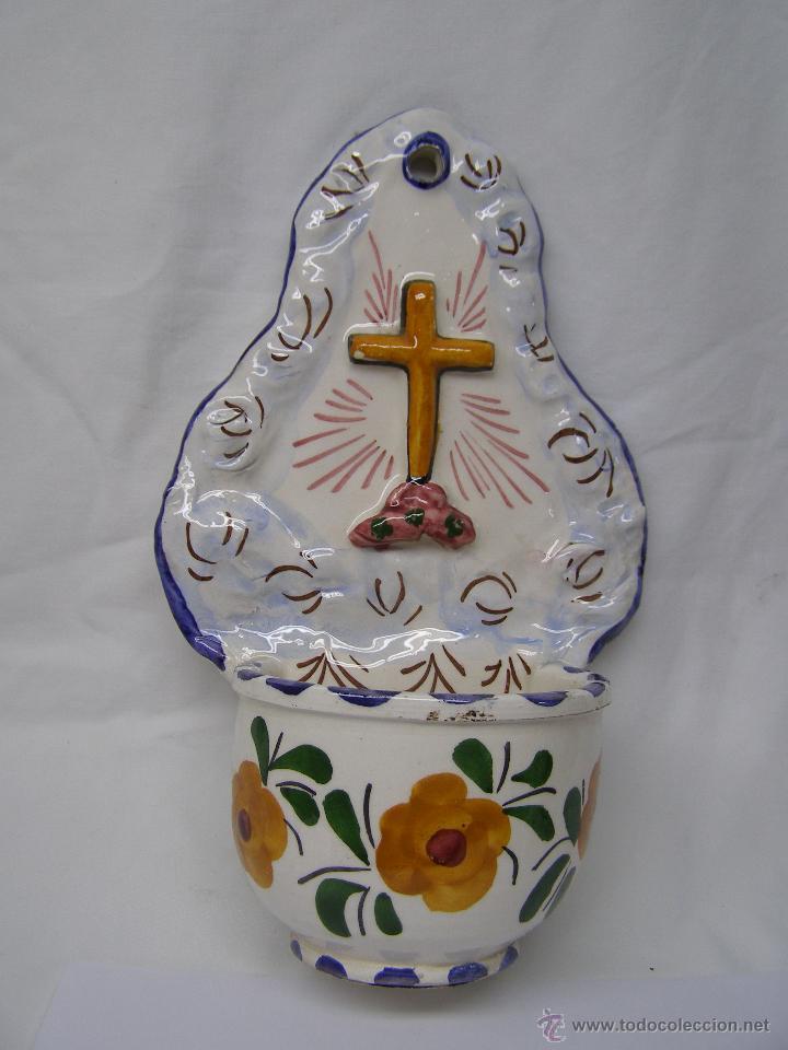 BENDITERA CRUZ (Antigüedades - Religiosas - Benditeras)