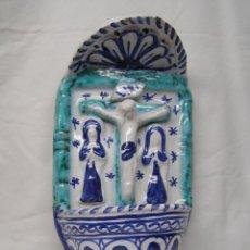 Antigüedades: BENDITERA CRUZ AZUL. Lote 40817645
