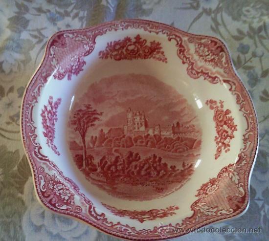 FUENTE DE PORCELANA DE 4 BOQUILLAS JOHNSON BROS. INGLATERRA (Antigüedades - Porcelanas y Cerámicas - Inglesa, Bristol y Otros)