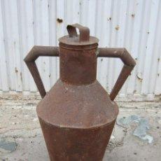 Antigüedades: CANTARA DE ACEITE EN HOJADELATA. Lote 287971078