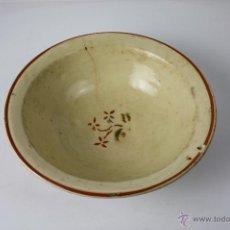 Antigüedades: PLATO HONDO EN CERÁMICA ESMALTADA Y DECORADA A MANO, Pº S. XX. Lote 40872154