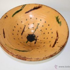 Antigüedades: ESPLÉNDIDO LEBRILLO-COLADOR, FINALES S. XIX, 45 DIÁMETROX 16 CM. ALTO. Lote 40872249