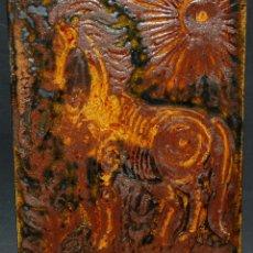 Antigüedades: BONITO PLAFON EN CERÁMICA VIDRIADA DE VILA CLARA (LA BISBAL) GIRONA. Lote 40878495