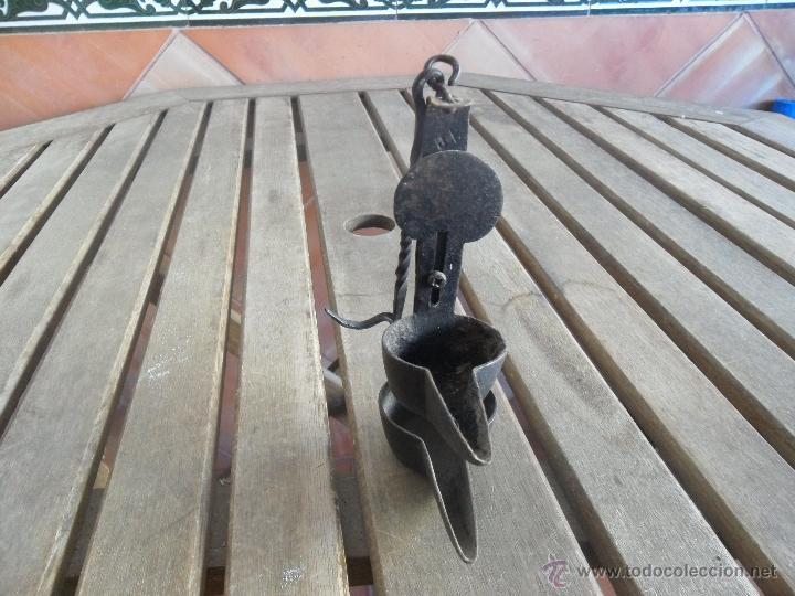 ANTIGUO QUINQUE CANDIL DE ACEITE (Antigüedades - Iluminación - Quinqués Antiguos)