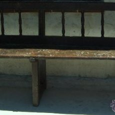 Antigüedades: BANCO DE ROBLE SXVII.. Lote 40885971