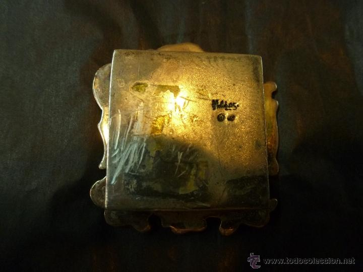 Antigüedades: caja de plata pastillero - Foto 5 - 40887456