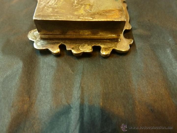 Antigüedades: caja de plata pastillero - Foto 6 - 40887456