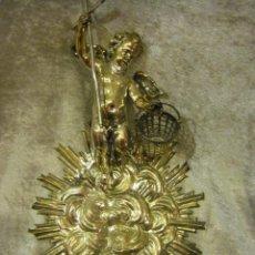 Antigüedades: BENDITERA DE PLATA POSIBLEMENTE DEL SIGLO XVIII O PRINCIPIOS DEL XIX. Lote 40887593