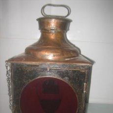 Antigüedades: BONITO Y ANTIGUO FAROL DE TREN EN HIERRO Y METAL PARA COLOCAR EN EL MISMO.. Lote 40887733