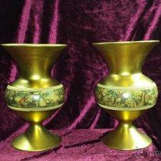 Antigüedades: PAREJA DE JARRONES FLORENTINOS. Lote 40899893