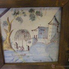 Antigüedades: AZULEJO O BALDOSA PROCEDENTE DE UNA PANEL DEL S. XVIII ALCORA, CASTELLÓN Y VALENCIA. Lote 40907703