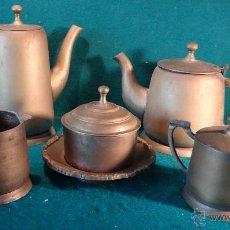 Antigüedades: SERVICIO DE CAFE Y TE - ART DECO - AÑOS 1930 - 40 -. Lote 40910997