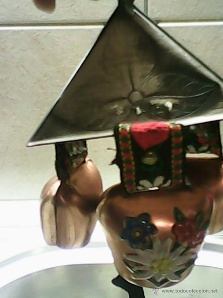 Antigüedades: ANTIGUA CAMPANA,SINFÓNICA , HECHA DE COBRE Y METAL,HECHA ,PINTADA A MANO. MAD SUIZA. AÑOS 50/60 - Foto 5 - 40916928