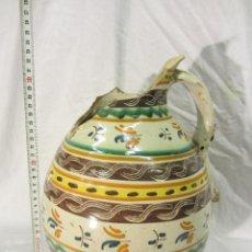 Antigüedades: GRAN JARRA POLICROMA DE PUENTE DEL ARZOBISPO / FIN S XVIII. Lote 40923290