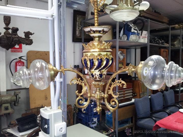 Antigüedades: ANTIGUA LAMPARA DE CERAMICA - Foto 2 - 40923643