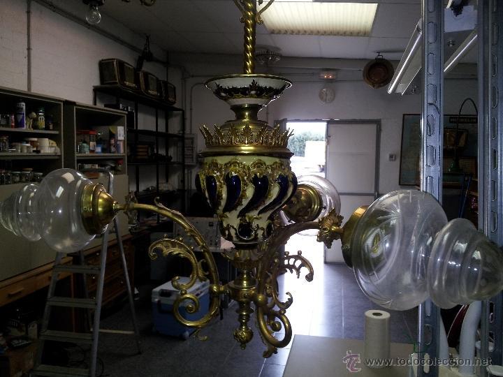 Antigüedades: ANTIGUA LAMPARA DE CERAMICA - Foto 3 - 40923643