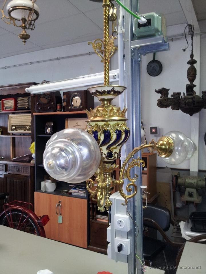 Antigüedades: ANTIGUA LAMPARA DE CERAMICA - Foto 6 - 40923643