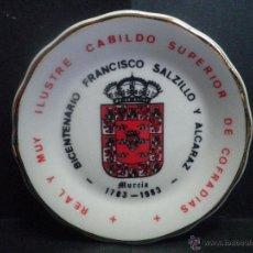 Antigüedades: PLATO DE PORCELANA BICENTENARIO FRANCISCO SALZILLO - MURCIA. Lote 40935477