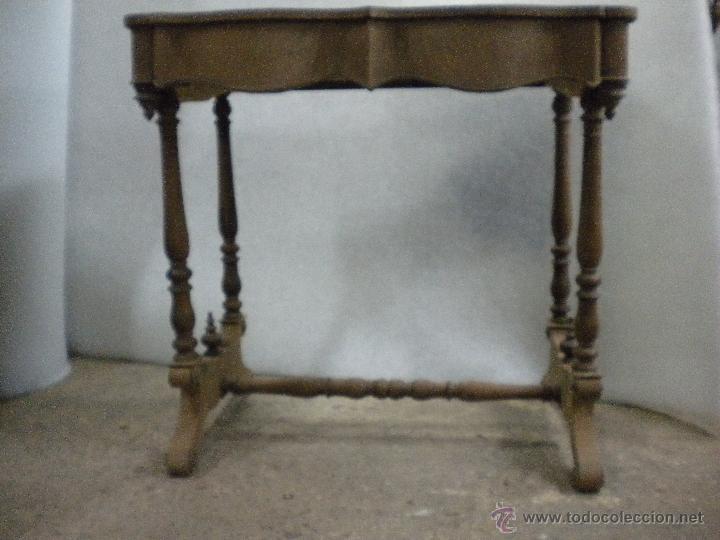 CONSOLA ISABELINA SIGLO 19.MADERA DE NOGAL.MEDIDA 98X56 ALTURA 90 CM (Antigüedades - Muebles Antiguos - Consolas Antiguas)
