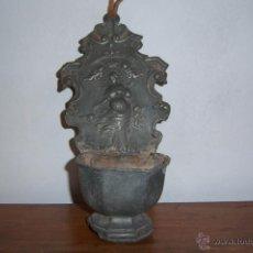 Antigüedades: BENDITERA DE ESTAÑO SXVIII. Lote 40940842