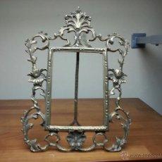 Antigüedades - antiguo marco de bronce tamaño 31x24 cm - 40942617