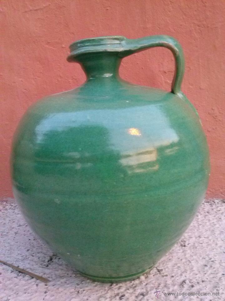 ANTIGUO CANTARO VIDRIADO DE TRIANA (Antigüedades - Porcelanas y Cerámicas - Triana)