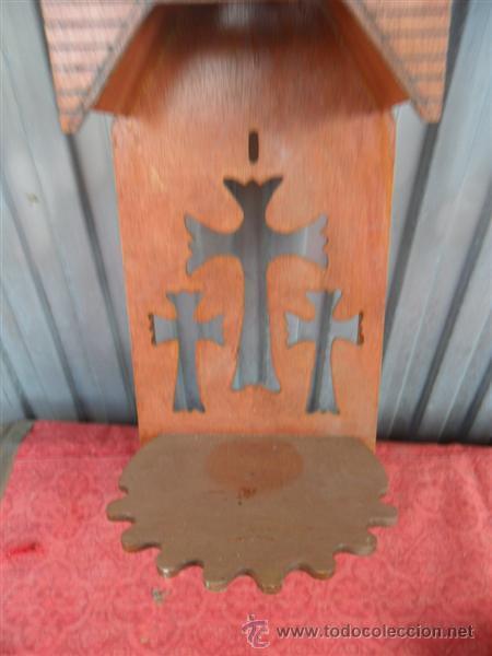 Antigüedades: mensula capilla gotica en marqueteria - Foto 3 - 40946353