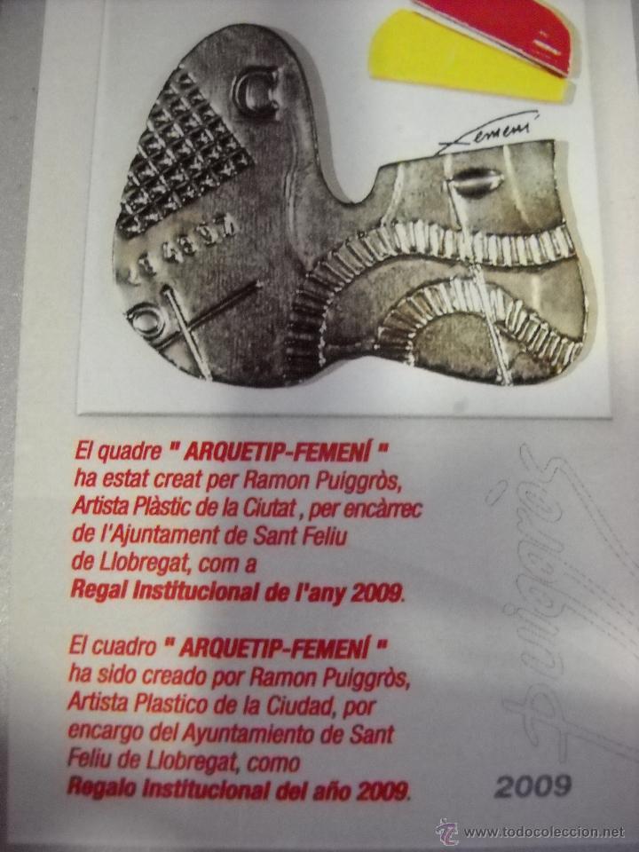 Antigüedades: cuadro arquetip-femeni.ramon puiggrós.obra unica. - Foto 2 - 40954190