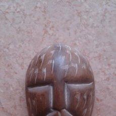 Antigüedades: ORIGINAL MASCARA INDIGENA DE PIEDRA TALLADA .. Lote 40955264