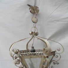 Antigüedades: BONITO FAROL DE HIERRO.. Lote 40971722