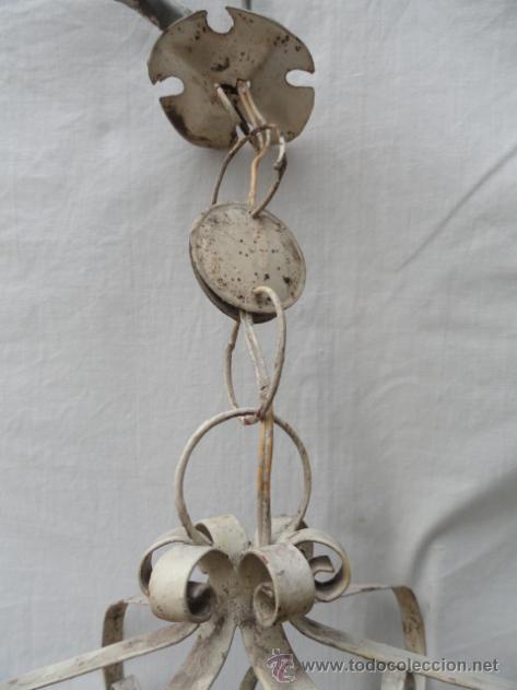 Antigüedades: BONITO FAROL DE HIERRO. - Foto 3 - 40971722