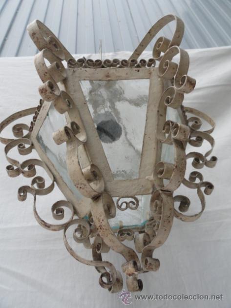 Antigüedades: BONITO FAROL DE HIERRO. - Foto 6 - 40971722