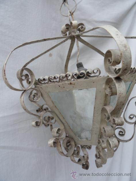 Antigüedades: BONITO FAROL DE HIERRO. - Foto 9 - 40971722