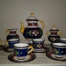Antigüedades: JUEGO CAFE EN CERAMICA DE TALAVERA.. Lote 40974899