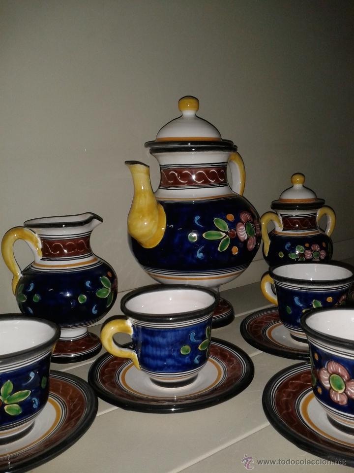 Antigüedades: JUEGO CAFE EN CERAMICA DE TALAVERA. - Foto 2 - 40974899