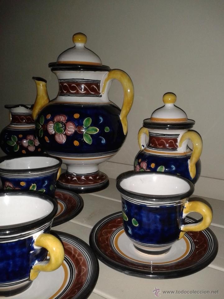Antigüedades: JUEGO CAFE EN CERAMICA DE TALAVERA. - Foto 3 - 40974899
