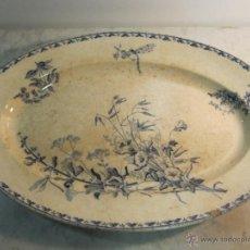 Antigüedades: BANDEJA DE CERAMICA DE U & C SARREGUEMINES DEL XIX. Lote 40992066