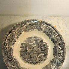 Antigüedades: PLATO DE CERAMICA DE CARTAGENA DEL XIX. Lote 40992679