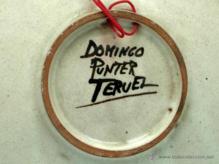 Antigüedades: Plato cerámica Teruel Recuerdo Broto Domingo Punter - Foto 4 - 41004573