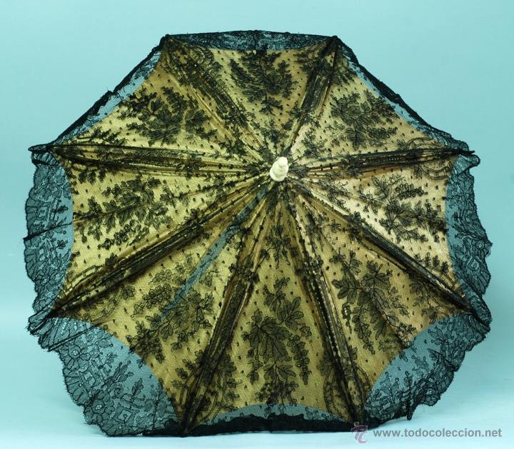 Antiques: Sombrilla en hueso seda y encaje S XIX - Foto 8 - 41007453
