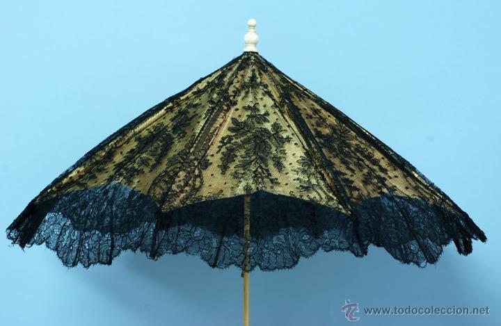 Antiques: Sombrilla en hueso seda y encaje S XIX - Foto 13 - 41007453